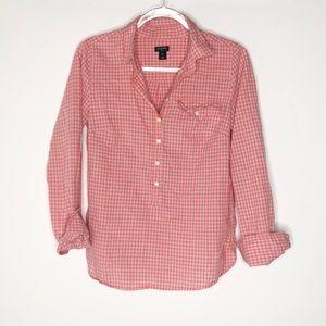 J. Crew pullover plaid shirt EUC XS